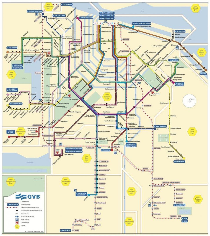 Gvb amsterdam map